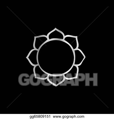 Eps Illustration Symbol Of Buddhism Lotus Flower Vector Clipart
