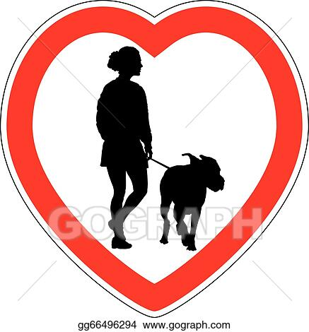 Vector Illustration Symbol Of Space For Walking Dogs Stock Clip