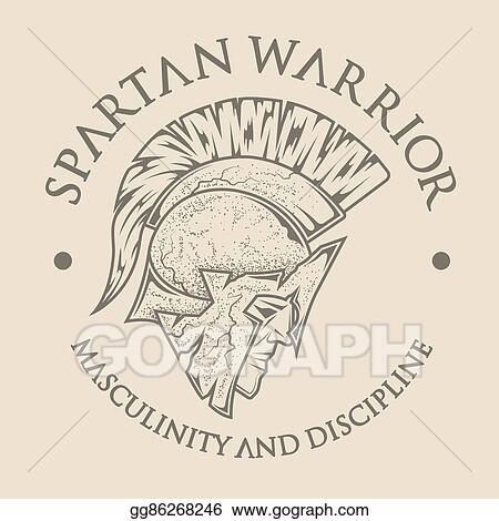 vector illustration symbol spartan greek warrior stock clip art