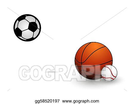 Vector Art Symbols Set Of Basketball And Football Balls Clipart