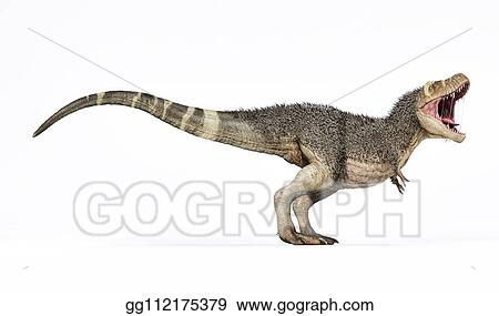Drawing T Rex With Feathers 3d Rendering Side View Clipart Drawing Gg112175379 Gograph