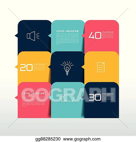 Eps Vector Table Chart Schedule Text Banner Template