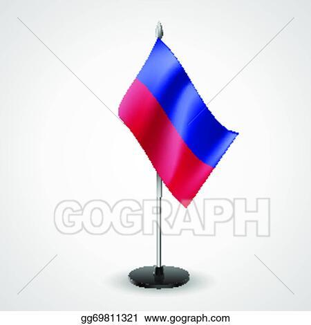 Vector Illustration Table Flag Of Haiti Eps Clipart Gg69811321