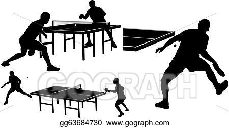 Vector Stock - Table tennis - silhouettes. Stock Clip Art ...