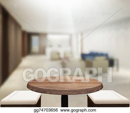 Stock Photos Table Top And Blur Office Background Stock Images