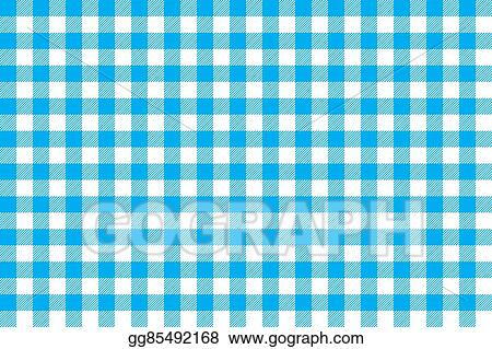 Vector Illustration   Tablecloth Background Blue Seamless ...