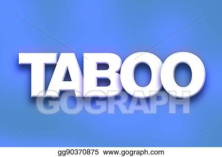 stock illustration taboo concept colorful word art stock art