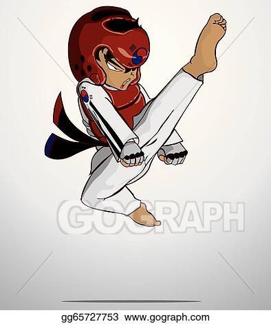 Vector Clipart Taekwondo Martial Art Vector Illustration Gg65727753 Gograph