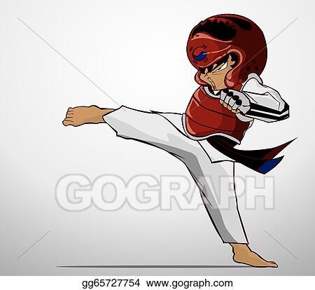 Vector Clipart Taekwondo Martial Art Vector Illustration Gg65727754 Gograph