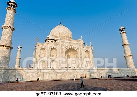 Stock Illustration Taj Mahal Structure India Clipart
