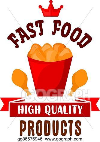 Eps Illustration Takeaway Bucket Of Fast Food Fried Chicken Icon