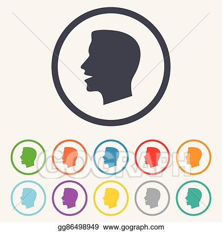 Vector Illustration Talk Or Speak Icon Loud Noise Symbol Stock