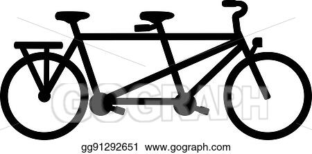 vector stock tandem bike stock clip art gg91292651 gograph rh gograph com tandem bike clip art wedding tandem bike clip art wedding