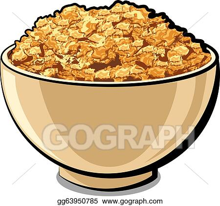 vector art tasty cornflakes clipart drawing gg63950785 gograph rh gograph com cereal bowl clip art cereal clipart