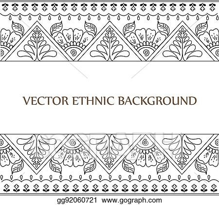 Eps Illustration Tattoo Henna Background Vector Clipart