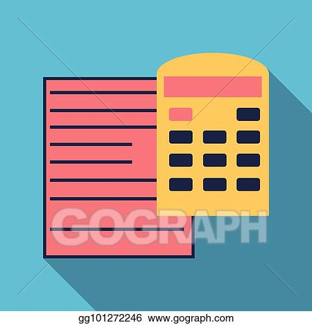 vector clipart tax accounting budget calculation clipboard tax