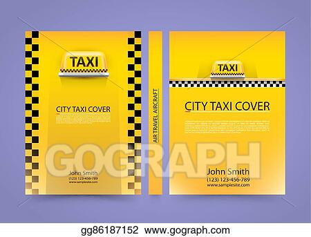 EPS Vector - Taxi business card, traffic cover, a4 size