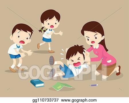 Vector Stock Teacher Handle Angry Boy Clipart Illustration Gg110733737 Gograph