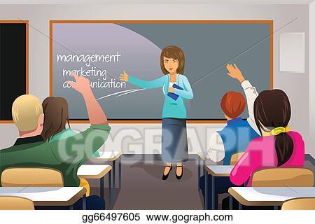 Vector Stock Teacher Teaching College Student Clipart