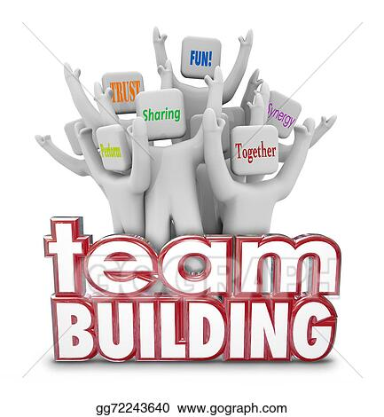 clip art team building people employees behind 3d words in rh gograph com Fun Team Building Clip Art Fun Team Building Clip Art