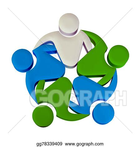 Stock Photo Teamwork 3d Leader Logo Stock Photography Gg78339409