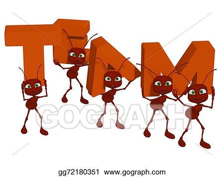 Stock Illustration - Teamwork, ants 3d cartoon. Clipart ... - photo#10
