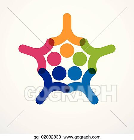 Clip Art Vector - Teamwork businessman unity and cooperation
