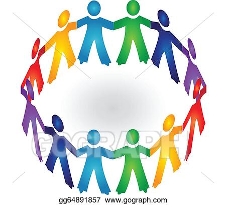 holding hands circle clip art royalty free gograph rh gograph com