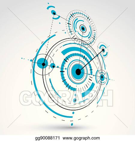 Clip art vector technical blueprint blue vector digital technical blueprint blue vector digital background with geometric design elements circles 3d illustration of engineering system perspective abstract malvernweather Images