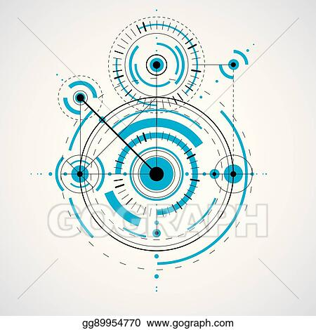 Clip art vector technical blueprint vector digital background technical blueprint vector digital background with geometric design elements circles illustration of engineering system abstract technological backdrop malvernweather Images