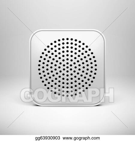 Vector Stock - Technology app icon blank template. Clipart ...