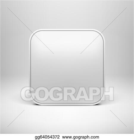 EPS Vector - Technology blank app icon template. Stock Clipart ...
