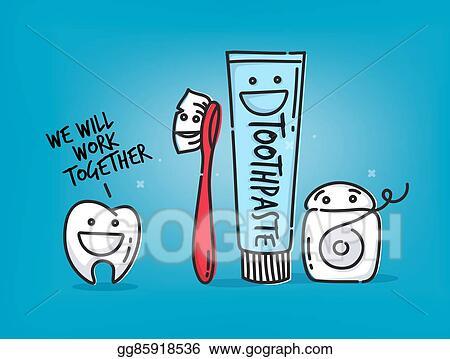clip art vector teeth cartoons blue stock eps gg85918536 gograph