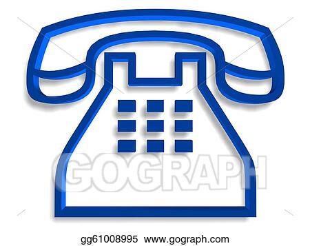 Stock Illustration Telephone Symbol Clip Art Gg61008995 Gograph