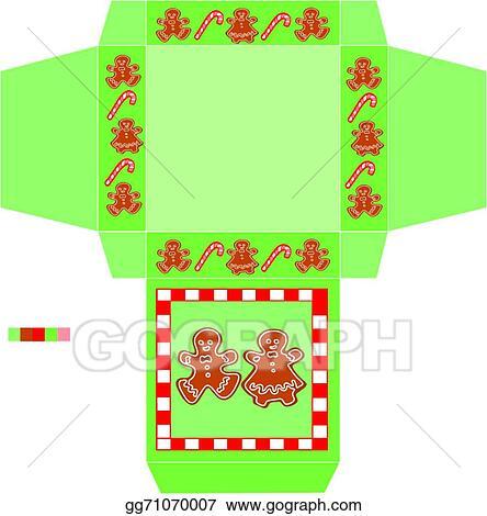 Vector Art Template Box Cookies Christmas Eps Clipart Gg71070007