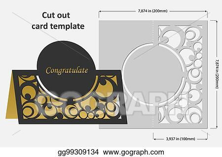 clip art vector template cards to cut topper use for