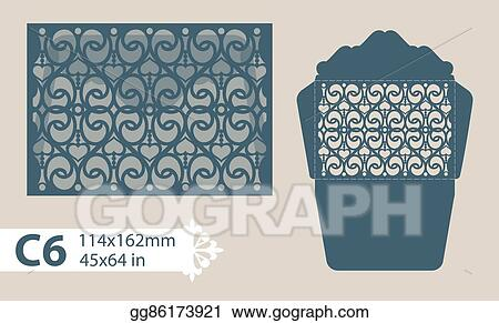clip art vector template congratulatory envelope with carved