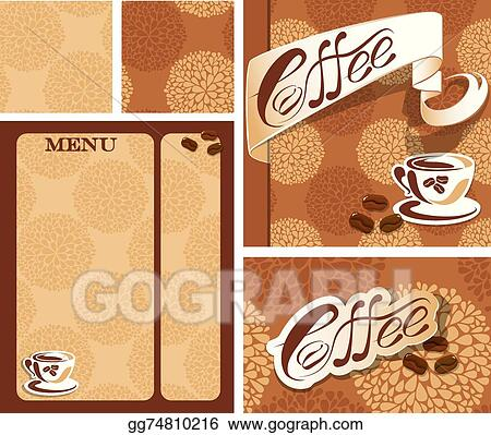 Vector illustration template designs of menu and business card for template designs of menu and business card for coffee house wit wajeb Choice Image