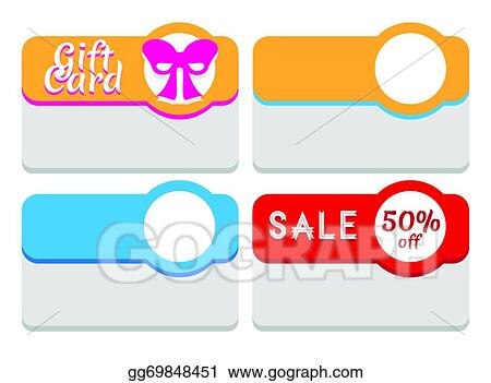 vector art template for labels tags stickers or cards clipart