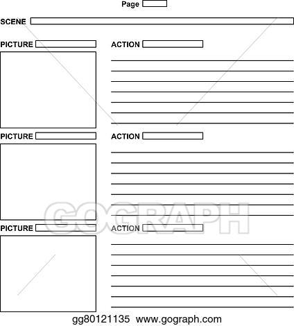 Eps Vector  Template For The Script Storyboard Stock Clipart