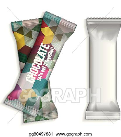 eps vector template for your chocolates stock clipart
