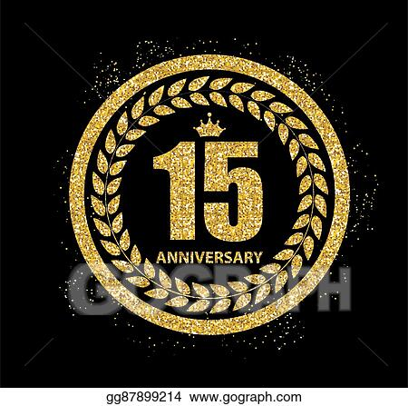 Clip Art Vector Template Logo 15 Years Anniversary Vector