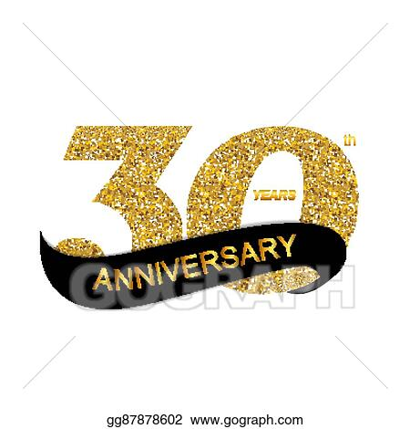 clip art vector template logo 30th anniversary stock eps rh gograph com