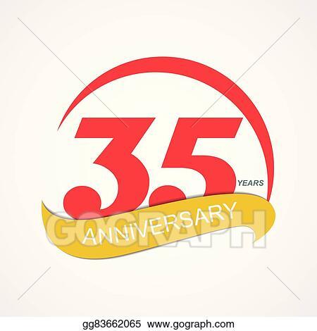 Clip Art Vector Template Logo 35 Anniversary Vector Illustration