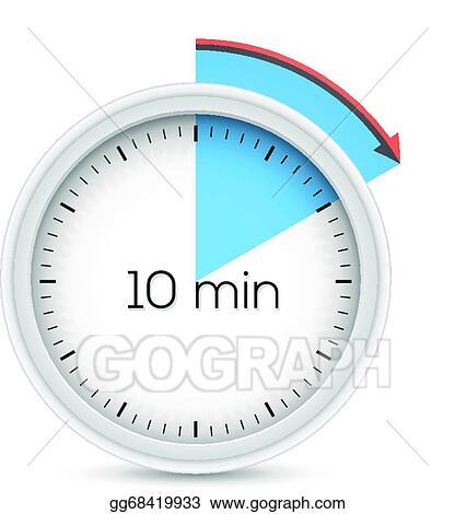 Vector Stock Ten minutes timer Clipart Illustration gg68419933