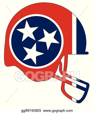 Clip Art Vector Tennessee State Flag Football Helmet Stock Eps Gg99745925 Gograph