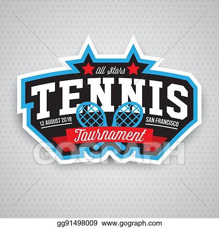 Tennis Logo Badge Design Template