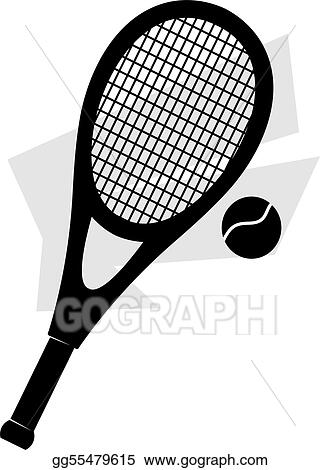 Stock Illustration Tennis Racket And Ball Clipart Drawing