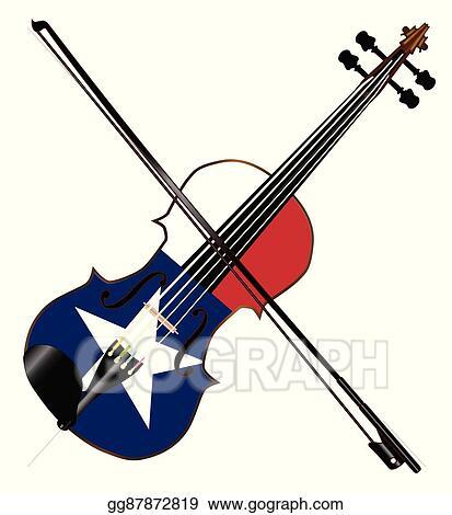 eps illustration texas fiddle vector clipart gg87872819 gograph rh gograph com fiddle clip art free fiddle clip art free