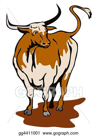 Stock Illustration Texas Longhorn Bull Clipart Gg4411001 Gograph